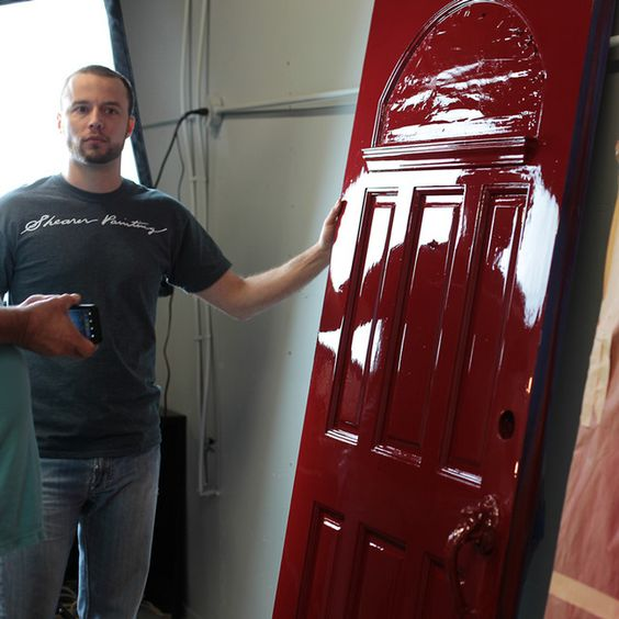 Pin By Shearer Painting On Painted Doors Painted Front Doors Fine Paints Of Europe High Gloss Furniture