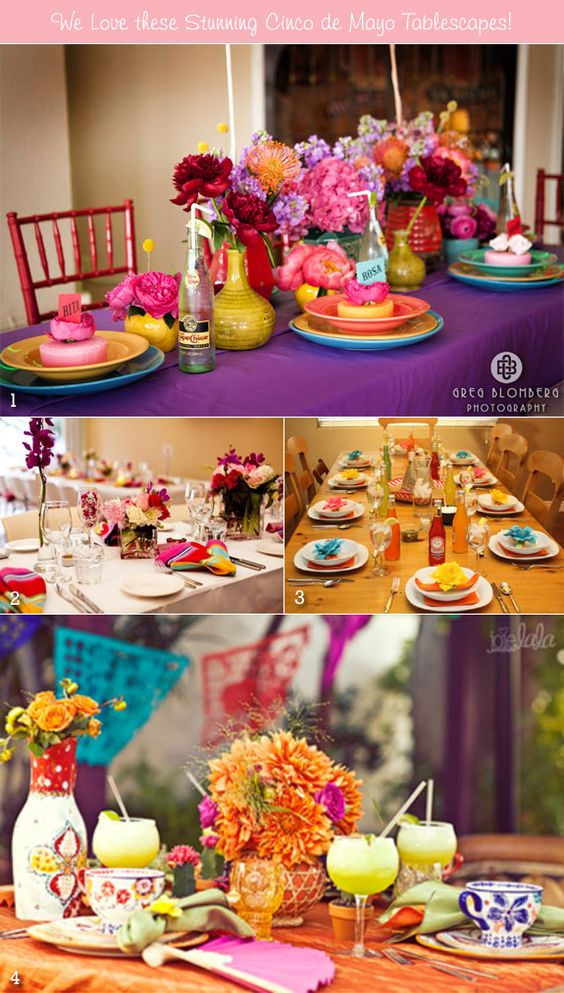Cinco de mayo inspiration for your wedding party tables wedding tablescapes and inspiration - Cinco de mayo party decoration ideas ...