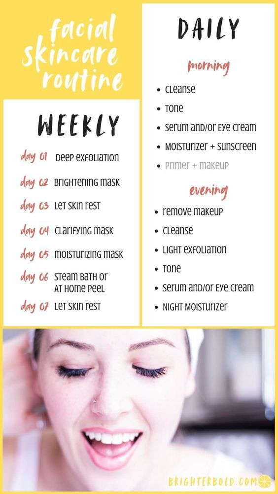 Skincare Revamp Daily Weekly Routine Never Skip Brunch Morning Skin Care Routine Morning Skincare Skin Care