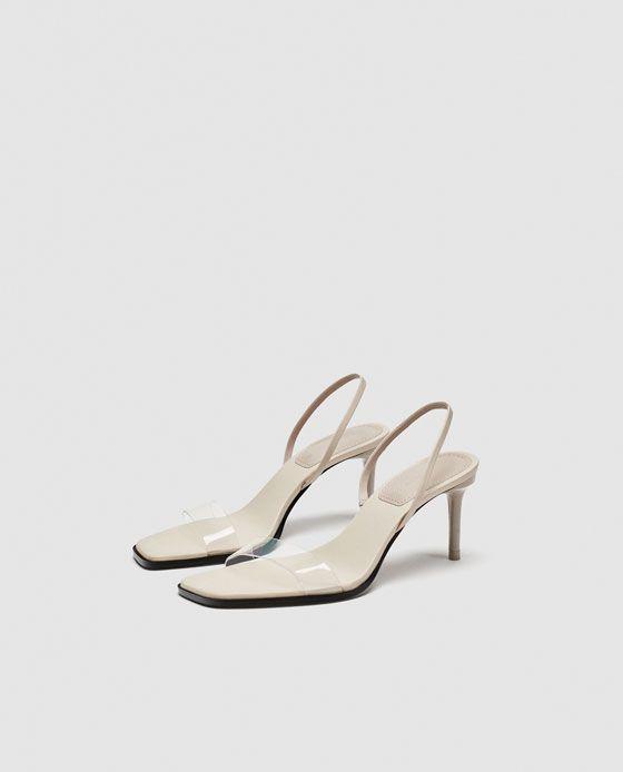 Zara | Shoes, Kitten heel sandals