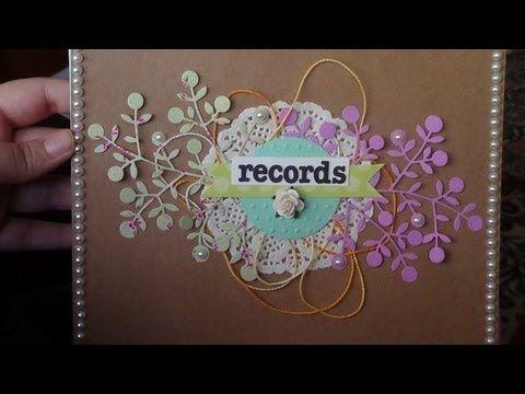 Tutorial de scrapbooking - MiniAlbum encuadernación fácil - YouTube