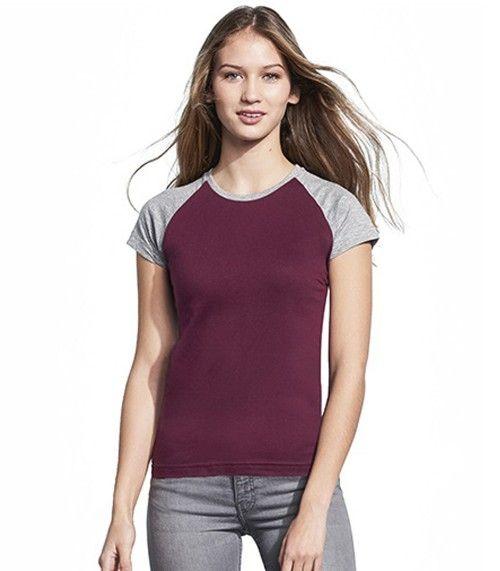 Camiseta Bicolor Milky Manga Larga Mujer Sols Camisetas