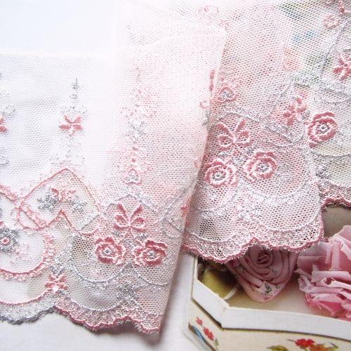 Tilbehør håndlaget sølv ledning elsker Søte Små roser brodert blondere avlet 9 cm 2 Farger - Taobao