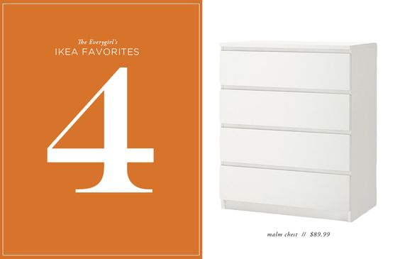 The Everygirl's 10 Favorite Ikea Finds // malm chest // $89.99