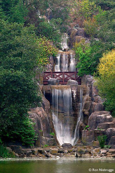 Huntington Falls at Stow Lake, Golden Gate Park, San Francisco, California.