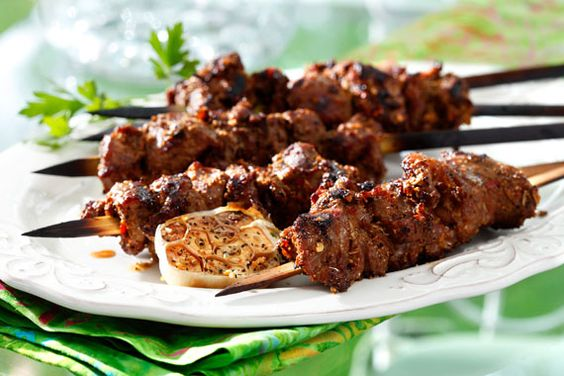 Lamb skewers, Canola oil and Kabobs on Pinterest
