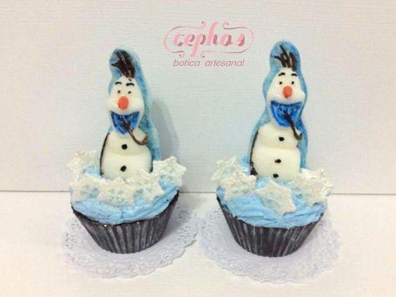 Lembranças de aniversário Olaf  em sabonetes