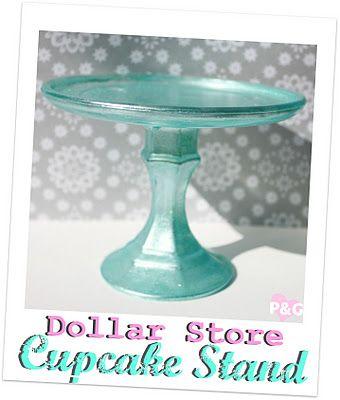 dollar store cupcake stand
