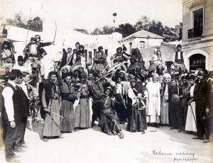 """Bedouin Wedding Procession"" in the Jerusalem section of the Pike at the 1904 World's Fair."