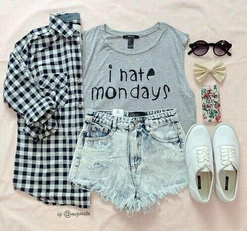 Teenage Fashion Blog: I Hate Mondays Teenage Outfit: