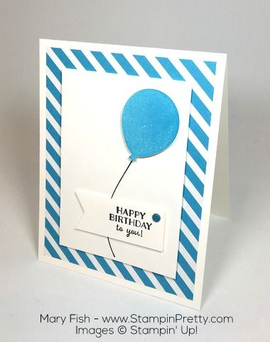 Stampin Up Birthday Card Ideas Using Party Pants and Balloon Bouquet Punch By Mary Fish