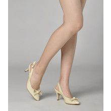 yeswalker - Bow Patent Slingback Pumps
