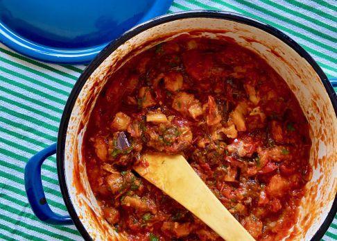Berenjenas Con Tomate Que Sirven De Salsa El Comidista El País Bloglovin Pasta De Berenjenas Tomate Berenjena