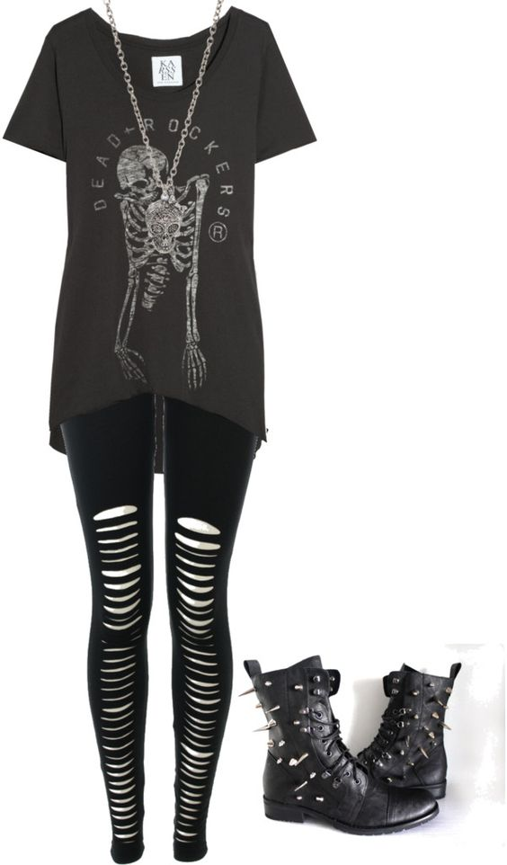 U0026quot;Untitled #652u0026quot; by bvb3666 liked on Polyvore | emo clothes and shoes | Pinterest | Spikes ...