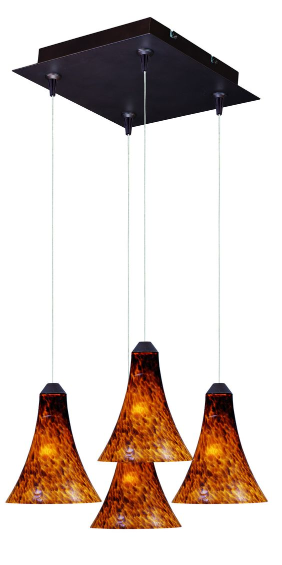 Leopard 4-Light RapidJack Pendant and Canopy