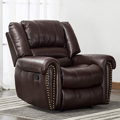 New Anj Leather Recliner Chair Breathable Bonded Classic Traditional 1 Seat Sofa Manual Recliner Chair Overstuffed Arms Back Dark Brown Online In 2020 Manual Recliner Chair Recliner Chair Leather Recliner Chair