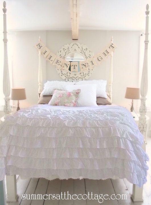 Vintage Farmhouse Chic Snow White Ruffle Duvet Comforter Cover Set Full Queen Or King Comforter Cover Farmhouse Bedding Sets Duvet Cover Master Bedroom