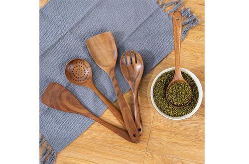 6-Mondayou Wooden Utensils Teak Wooden Spoons   Wooden cooking utensils, Wooden  cooking utensils set, Cooking utensils