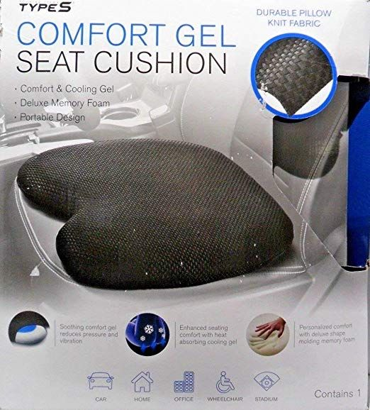 Comfort Gel Seat Cushion Pillow For Car Home Office Stadium