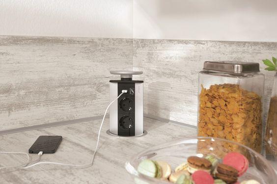 25+ parasta ideaa Pinterestissä Versenkbare steckdose - versenkbare steckdosen küche