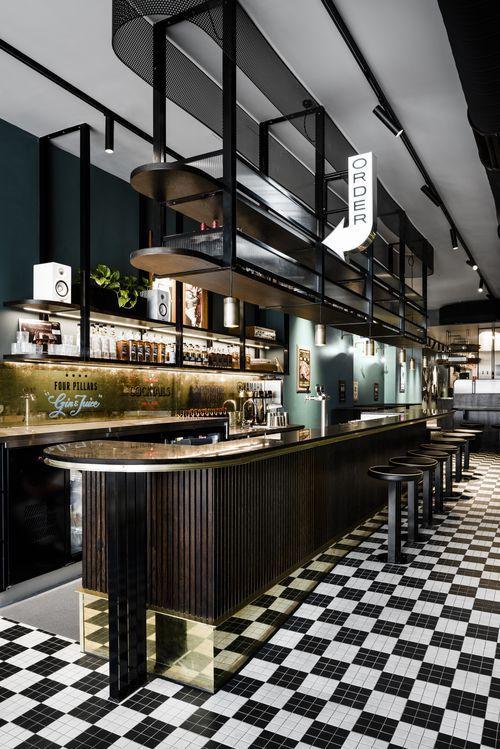 Above Bar Overhang For Liquor Restaurantdesign Design Interieur Restaurant Idee Deco Bar Bar Moderne