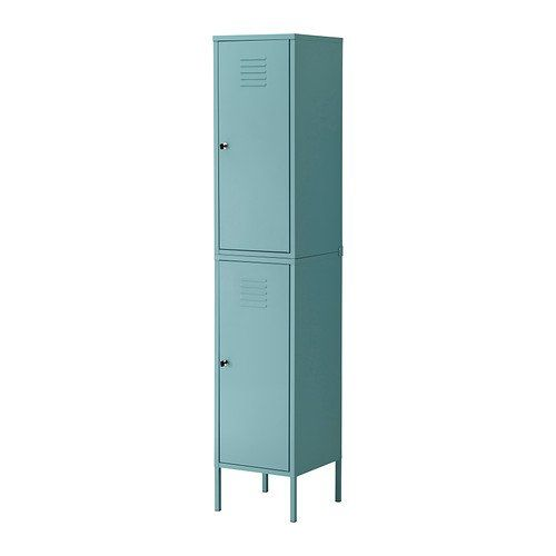 ikea ps cabinet tall locker turquoise green
