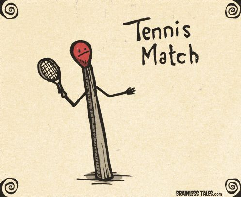 Tennis Match With Images Punny Puns Cute Puns Puns Jokes