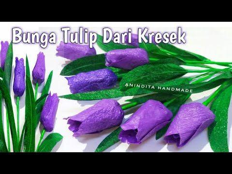 Cara Membuat Bunga Tulip Dari Plastik Kresek How To Make Tulips From Plastic Bags Bunga Kresek Youtube Bunga Tulip Bunga Tulip