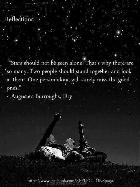 The first night we met, you showed me the stars...Stucker