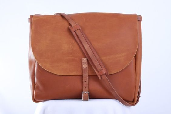shaun c garcia for americana dry goods | leather postal mail messenger bag