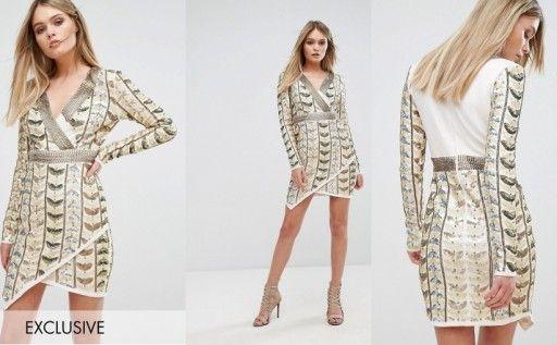 106b02148 Starlet Sukienka Bogato Zdobiona 40 7128891824 Oficjalne Archiwum Allegro Fashion Dresses Cover Up