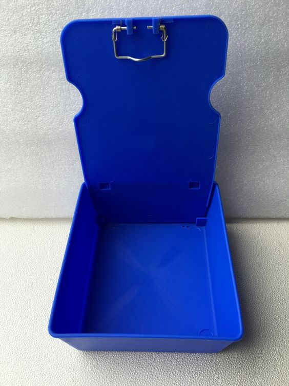 1 Pc Blue Dental Laboratory Working Case Pan Tray With Clip Holder New…
