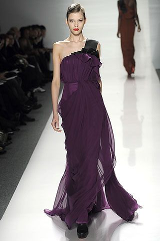 J.Mendel Fall 2009 Purple Gown - Photos, Videos, Links / Coolspotters