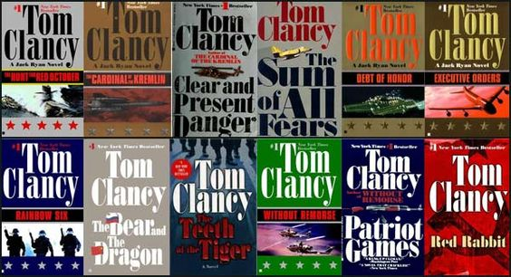 Tom Clancy books I read when I was single hoping to make myself more interesting ... ending up loving this author