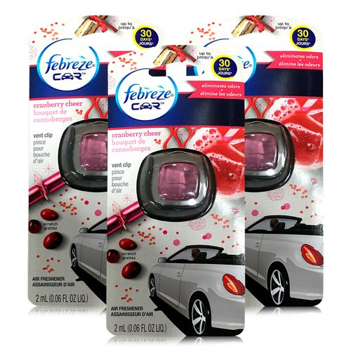 Featuring this week:  Febreze Car Vent Clip Air Freshener, Cranberry Cheer, 1 count, 0.06oz (Case Of 3) Case Price: $7.10 Price per unit: $2.37