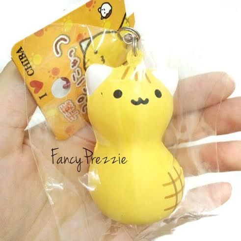 Squishy Tagalog : Rare Chiba Kitty Peanut Squishy from FancyPrezzie Chiba, Peanuts and Products