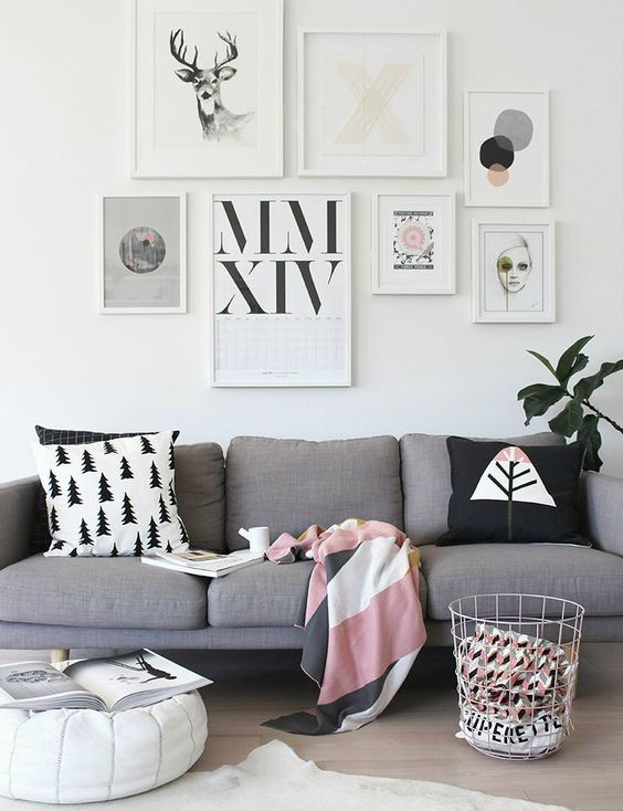 One type of home ornamentation that has been gaining steam lately are art gallery walls. Creating your own personal wall gallery with your favorite pictures or prints is unique because you don't ha...: