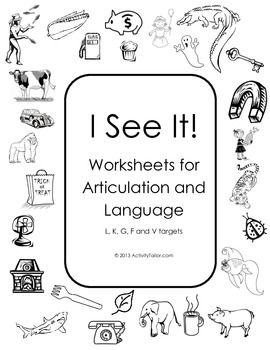 Printables Articulation Worksheets language coloring and i spy on pinterest see it worksheets for articulation therapy print bw can play with