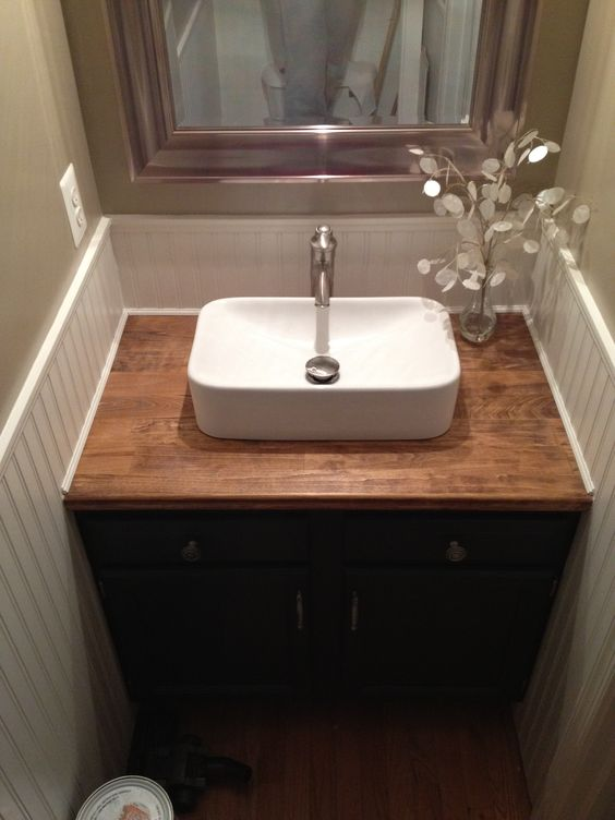 bathroom cabinet tops butcher blocks butcher block counters and builder grade 11165