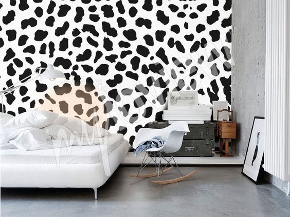 Bedroom ideas - #blackandwhite #pattern for your #interior