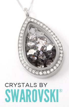 Origami Owl's new teardrop locket with Swarovski crystals. BLING overload!