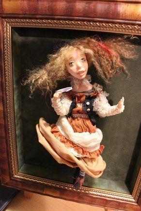 """Кукла: """"Пеппи"""". Материал: Фимо, текстиль. Высота: 28см. Автор: Ярослава Рассадникова. 2015 год. Единственный экземпляр. Продана."""