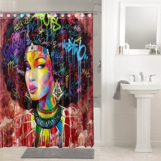African Afro Hair Afrocentric Black Woman 113 Shower Curtain