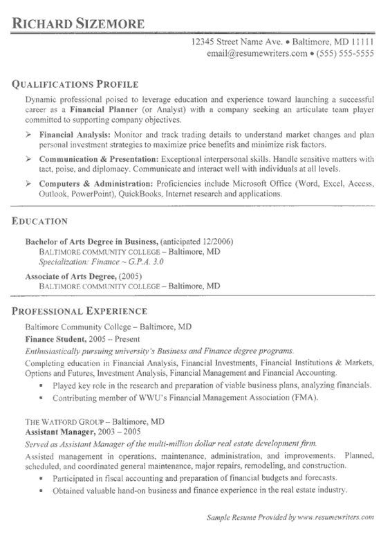 Performing Arts Resume Sample - http\/\/resumesdesign - general maintenance resume