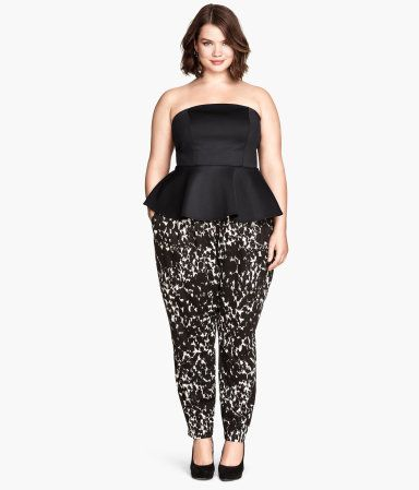 Black and White Patterned PantsProduct Detail | H&M US