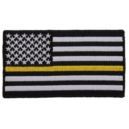 Subdued Yellow Stripe American Flag Patch Flag Patches American Flag Patch Yellow Stripes