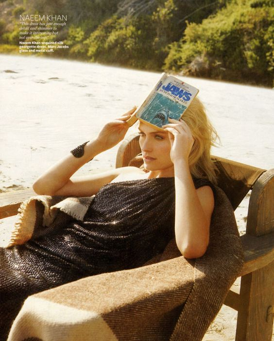 InStyle October | Amber Valletta by Jenny Gage & Tom Betterton: