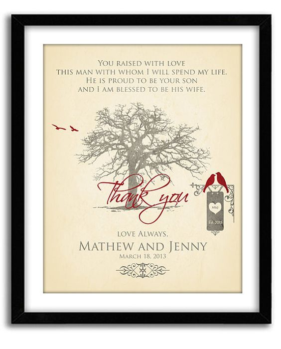 Gifts For Parents Wedding Thank You: Wedding Gift For Parents Of Groom, Thank You Gift For