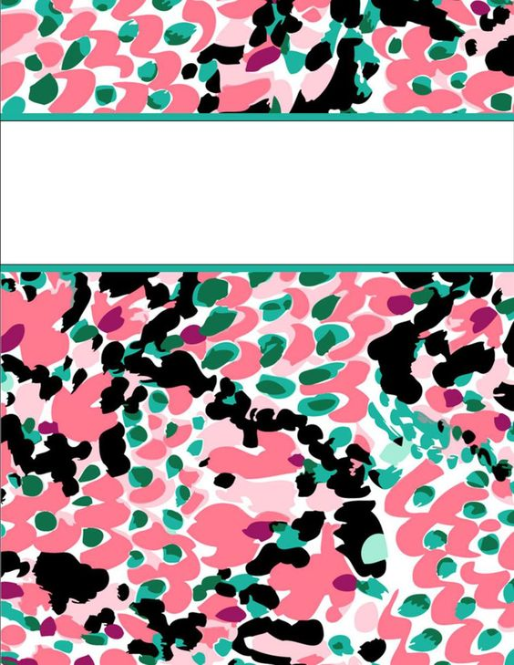 Lilly Pulitzer Binder Cover Templates binder covers, printable binder ...