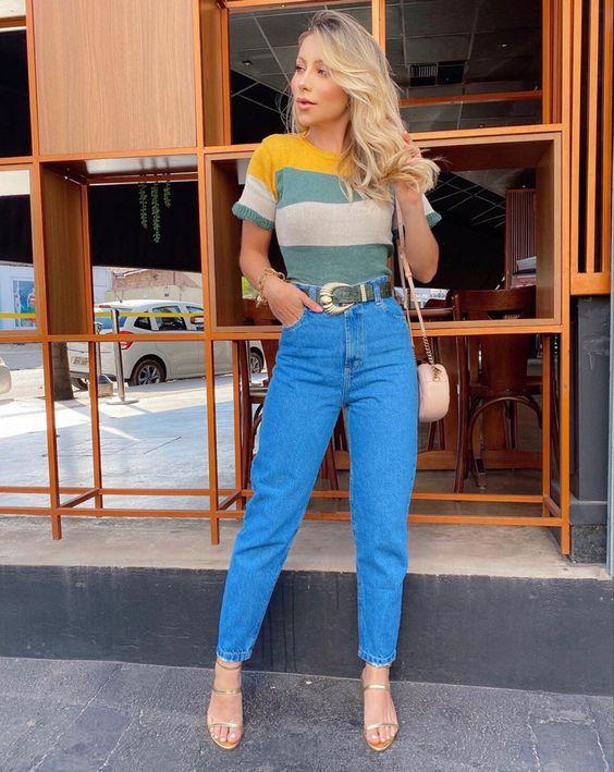 Look com calça jeans fashion para causar